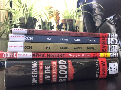 January library haul! March, Queer, Something in the Blood (WildmooBooks.com)