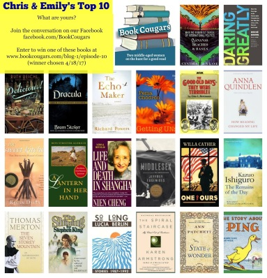Book Cougars Top 10 Giveaway March 2017 (Ends 4/18/2017)