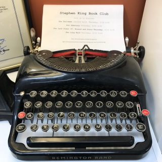Stephen King Book Club, Typewriter display, Book Club Bookstore, South Windsor, CT (WildmooBooks.com)