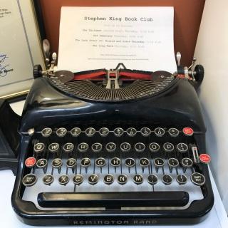 Stephen King Book Club, Typewriter display, Book Club Bookstore, South Windsor, CT (WildmooBooks.com)