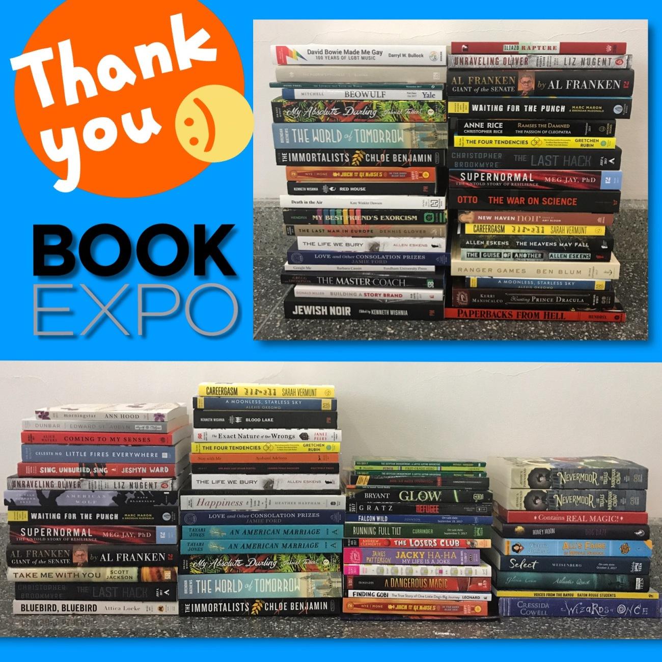 BookExpo final haul 2017