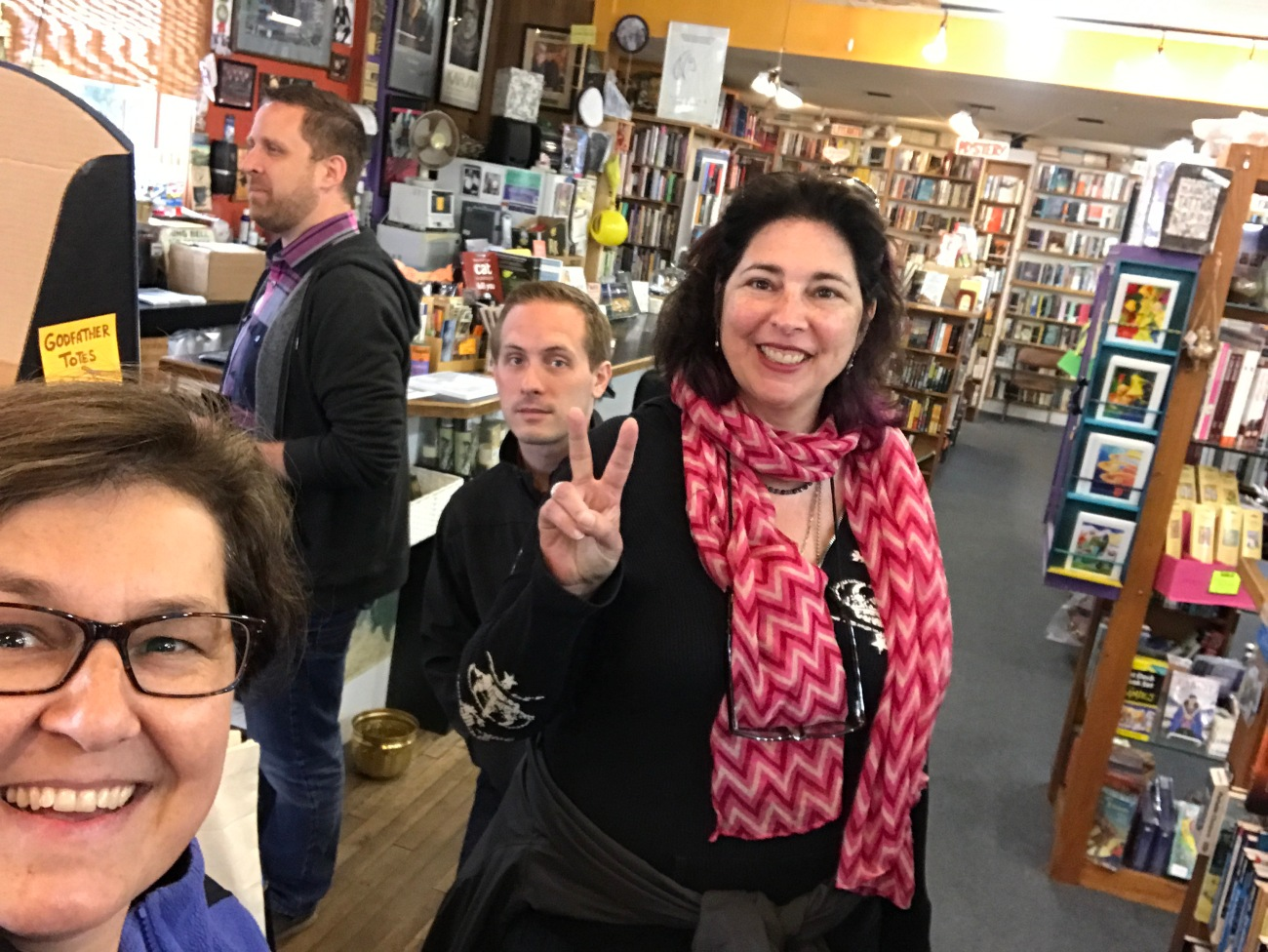 Visiting Godfather's Books in Astoria, OR (WildmooBooks.com)