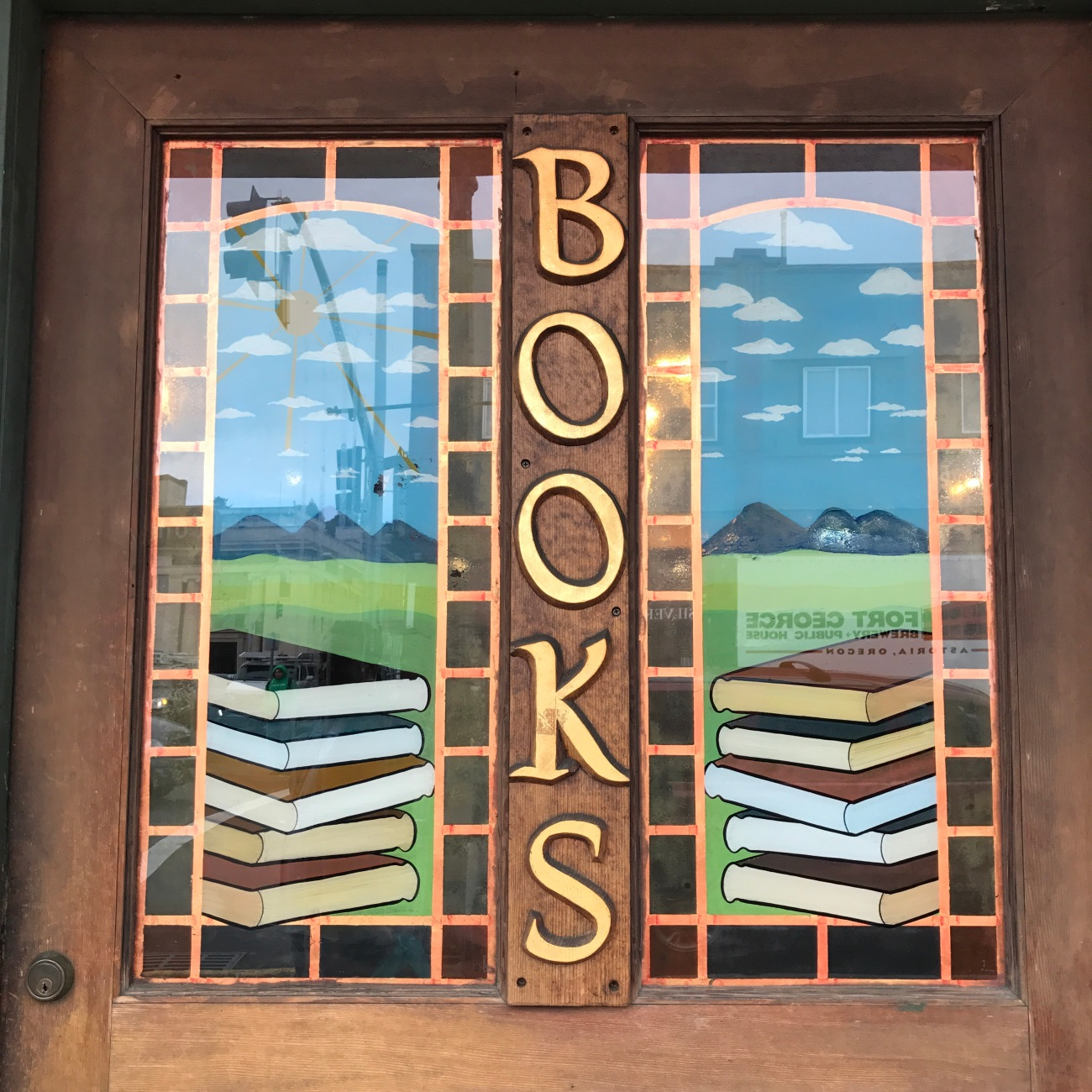 Godfather's Books front door detail (WildmooBooks.com)