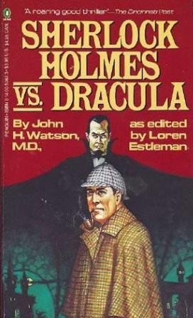 Penguin Books 1979 cover of Sherlock Holmes vs. Dracula (WildmooBooks.com)