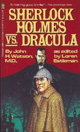 Penguin Books 1979 cover of Sherlock Holmes vs. Dracula (WildmooBooks.com)