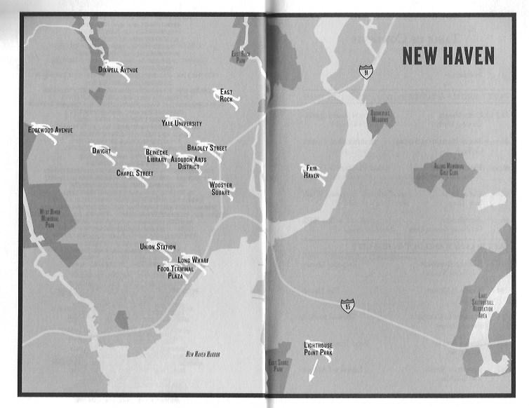 New Haven Noir Map, Akashic Books (WildmooBooks.com)