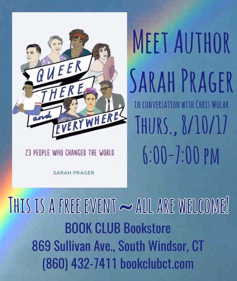 Queer, There, and Everywhere: Sarah Prager in conversation with Chris Wolak (WildmooBooks.com)