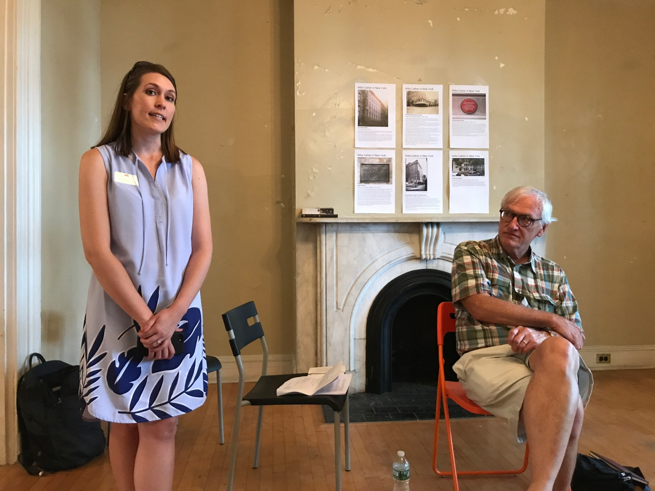 Ashley Olson and Robert Thacker on Governors Island (WildmooBooks.com)