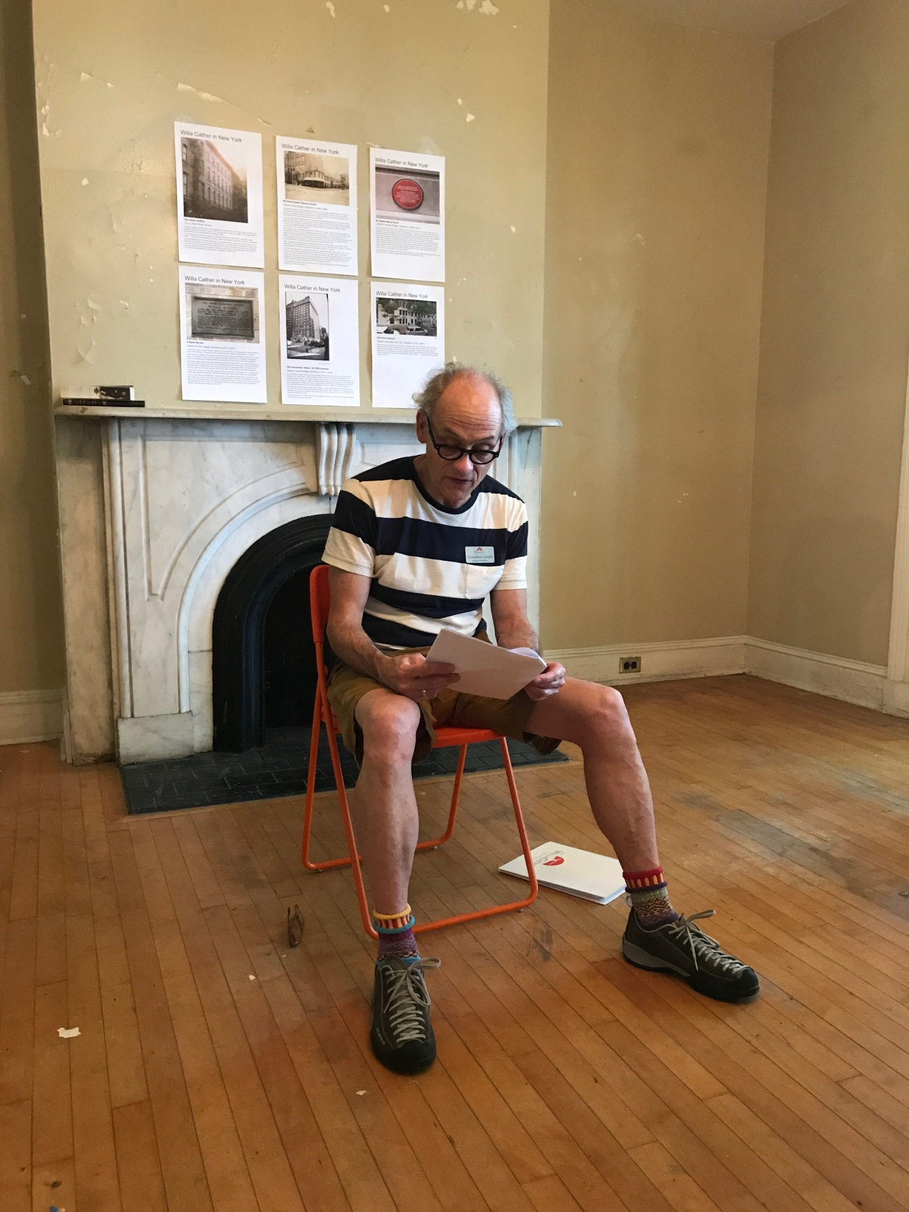 Tom Gallagher on Governors Island (WildmooBooks.com)