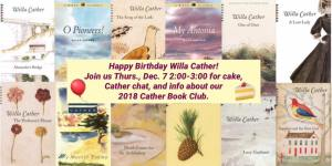 Willa Cather BD Book Club Bookstore (WildmooBooks.com)