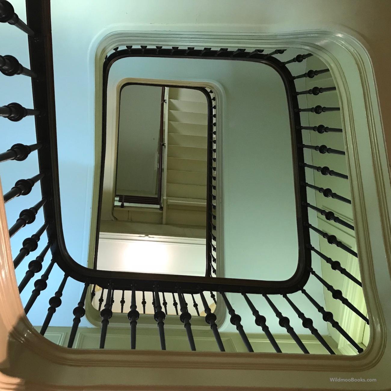 Stairwell at The New York Society (WildmooBooks.com)