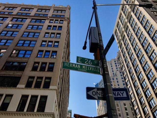 Herman Melville Square Street Sign (WildmooBooks.com)