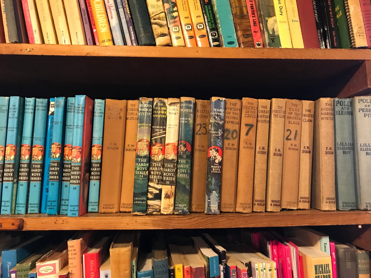 The Hardy Boys at Whitlock's Book Barn (WildmooBooks.com)